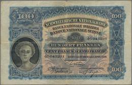 Switzerland / Schweiz: 100 Franken 1924 P. 35a Signatures: Usteri / Schnyder / Bornhauser In Conditi - Switzerland