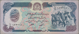Afghanistan: Huge Lot With 489 Banknotes Of The Democratic Republic SH 1358-1372 (1979-1993) Issue, - Afghanistan