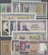 Guinea: About 120 Banknotes From Different Series In Different Denominations In Various Conditions C - Guinea