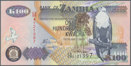 Zambia / Sambia: 1986/1992 (ca.), Ex Pick 28-38, Quantity Lot With 330 Banknotes In Good To Mixed Qu - Zambia