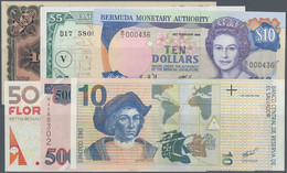 South America / Südamerika: High Value Lot With 19 Banknotes America, Comprising For Example Aruba 5 - Sonstige – Amerika