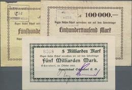 Deutschland - Notgeld - Württemberg: Schorndorf, Gewerbebank, 100, 500 Tsd. Mark, 1.8.1923, 5 Mrd. M - [11] Emisiones Locales