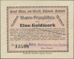 Deutschland - Notgeld - Württemberg: Schwäbisch Gmünd, Städt. Betriebswerke Gmünd, 1 Goldmark, O. D. - [11] Emisiones Locales
