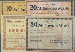 Deutschland - Notgeld - Württemberg: Schwenningen, Stadtgemeinde, 100 Tsd. Mark, 13.8.1923; Dito, Ar - [11] Emisiones Locales