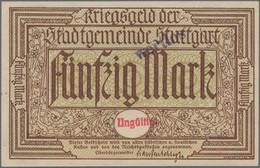 Deutschland - Notgeld - Württemberg: Stuttgart, Stadt, 50 Mark, O. D. - 1.2.1919, Ohne KN Und Präges - [11] Emisiones Locales