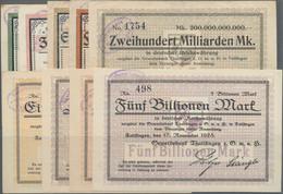 Deutschland - Notgeld - Württemberg: Tailfingen, Gewerbebank Thailfingen, 10, 20 Mio. Mark, 25.9.192 - [11] Emisiones Locales
