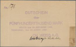 Deutschland - Notgeld - Württemberg: Trossingen, Ch. Weiss Akt.-Ges. Harmonikafabriken, 500 Tsd. Mar - [11] Emisiones Locales