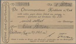 Deutschland - Notgeld - Württemberg: Weilheim U. Teck, M. Becker, 1 Billion Mark, 29.10.1923, Eigens - [11] Emisiones Locales