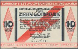 Deutschland - Notgeld: Wetbeständiges Notgeld / Sachwertscheine, Kleines Lot Mit 40 Scheinen, Dabei - Non Classificati