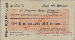 Deutschland - Notgeld - Sachsen: Konvolut Von 100 Belegen Rund Ums Geld. Die Mappe Enthält 53 Kleing - [11] Emisiones Locales