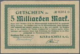 Deutschland - Notgeld - Württemberg: Kirchheim / Teck, Kolb & Schüle A.-G., 3 X 500 Tsd. Mark, 23 X - [11] Emisiones Locales