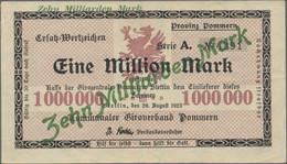 Deutschland - Notgeld - Ehemalige Ostgebiete: Stettin, Pommern, Kommunaler Giroverband Pommern, 10 M - Non Classificati