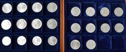 Amerika: Kleines Lot Mit 22 Silberunzen (1990-1993), Dabei: 10 X 1 OZ Maple Leaf; 8 X 1 OZ Silver Ea - Other - America