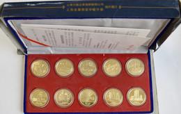 """Medaillen Alle Welt: China, Shanghai: 10 Medaillen Set """"Ten View"""" Von Chai Zhenhua. Die Medaillen Ze - Unclassified"""