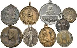 Medaillen - Religion: Hübsches Konvolut Von 18 Religiösen Medaillen; Meist 19. Jahrhundert; In Unter - Unclassified
