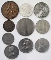 Medaillen - Religion: Lot 12 Diverse Medaillen, überwiegend Motiv Religion. Teil Zinn Und Einseitig. - Unclassified