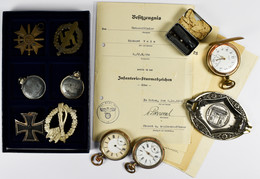 Orden & Ehrenzeichen: Nachlass Eines Soldaten, Dabei: Infanterie-Sturmabzeichen In Silber Mit Verlei - Non Classés