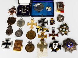 Orden & Ehrenzeichen: 1870-1958: Großes Lot Mit Diversen Abzeichen, Orden Und Medaillen, überwiegend - Non Classés