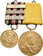 Orden & Ehrenzeichen: Preußen: Erinnerungskreuz 1866 Der Main-Armee, Goldbronze Am Band; Dazu 2er Sp - Non Classés