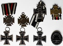 Orden & Ehrenzeichen: Erster Weltkrieg: Lot 8 Artikel, Dabei: 4 X EK II. 1914; 2 X Ehrenkreuz Für Fr - Non Classés