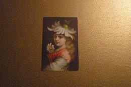 """Chromo Jeune Fille Chapeau """"Marguerite"""". - Unclassified"""