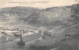 AVEYRON  12  DECAZEVILLE  VUE GENERALE DE LA DECOUVERTE - UNE MONTAGNE DE CHARBON - Decazeville