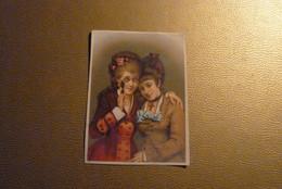 Grand Chromo Deux Jeunes Filles, L'une Avec Lunettes, L'autre Avec Roix. Format 10 Cm X 14 Cm Environ. - Unclassified