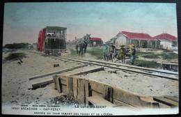 33 CAP FERRET - ARCACHON - Cote D'Argent - Arrivée Du Tram Hippomobile Venant Des Passes Et De L'océan  (CPA  Colorisée) - Arcachon