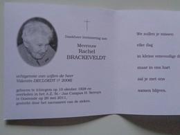 Doodsprentje/Bidprentje Rachel BRACKEVELDT  Ichtegem 1928-2011 Oostende  (Wwe Valentin DECLOEDT) - Religion & Esotérisme