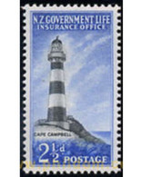 Ref. 349126 * MNH * - NEW ZEALAND. 1947. LIGHTHOUSES . FAROS - Unused Stamps