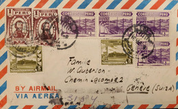O) PERU, TORIBIO DE LUZURIAGA NATIONAL RADIO OF PERU, GOVERNMENT RESTAURANT AT CALLAO, MULTIPLE STAMPS, AIRMAIL CIRCULAT - Perú