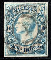 326.GERMANY.SAXONY.1856 10NGR.MICHEL 13 - Sachsen