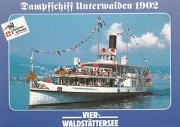 Steamer Steam Ship Dampfschiff Unterwalden Switzerland - Passagiersschepen