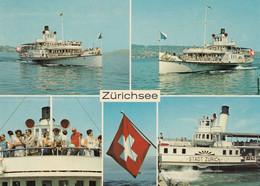 Steamer Steam Ship Dampfschiff Stadt Zurich & Stadt Rapperswil Switzerland - Passagiersschepen