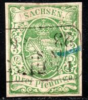 327.GERMANY.SAXONY.1851 3 Pf..MICHEL 21 - Sachsen