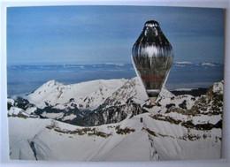 TRANSPORTS - AVIATION - Premier Vol En Ballon Autour Du Monde - Suisse - Carte Ier Jour - Globos