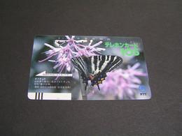 JAPAN Phonecards Animals  Butterlies   .. - Farfalle