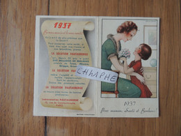 """LABORATOIRE PAUTAUBERGE 10 RUE DE CONSTANTINOPLE A PARIS - ANNEE 1937 - """"POUR MAMAN SANTE ET BONHEUR"""" - Small : 1921-40"""