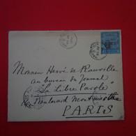 LETTRE MAURITUS ILE MAURICE POUR PARIS JOURNAL LA LIBRE PAROLE 1909 - Mauritius (...-1967)