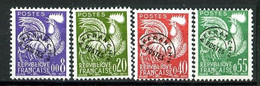 Préos 119 / 122 - Série Complète Coq NF - Neufs N** - 1953-1960