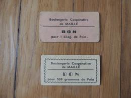 MALLE - BOULANGERIE COOPERATIVE - 1 BON POUR 1 KG DE PAIN ET 1 BON POUR 1/2 KG DE PAIN - Non Classés