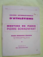 PARIS XIII°ARRONDISSEMENT. SOIREE INTERNATIONALE D'ATHLETISME. MEETING DE PARIS PIERRE BONNENFANT. STADE CHARLETYL - Sport