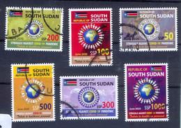 SOUTH SUDAN 2020 Cancelled Stamp Issue Health Workers Fighting Covid-19 Pandemic CTO SOUDAN Du Sud Südsudan - Zuid-Soedan