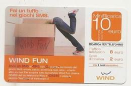 Ricarica WIND Fai Un Tuffo Nei Giochi SMS, Wind Fun, Taglio 10,00 Euro, Scadenza 30/06/2007, Usata - [2] Sim Cards, Prepaid & Refills