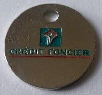 Jeton De Caddie - Banque - CREDIT FONCIER - En Métal - Neuf - - Einkaufswagen-Chips (EKW)