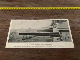 1906 PATI Canons Du Cuirassé Louisania Maryland Pensylvanie - Non Classés