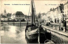 Termonde Dendermonde La Dendre Et La Rue De L'Escaut (circulé 1909) - Dendermonde