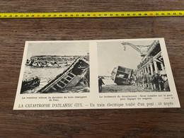 1906 PATI Catastrophe D Atlantic City Chute Train électrique - Non Classés
