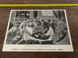 1906 PATI Catastrophe De Courrières Remontée Des Cadavres Au Puits De Sallaumines - Non Classés
