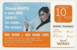Ricarica WIND NOI WIND E NOI WIND SMS, Taglio 10,00 Euro, Scadenza 31/12/2008, Usata - [2] Sim Cards, Prepaid & Refills